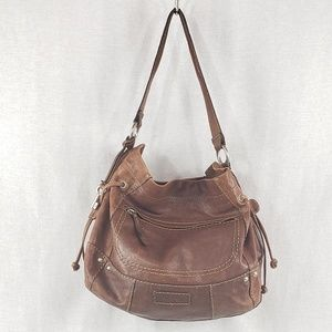 Fossil large Liberty leather hobo bag in brown